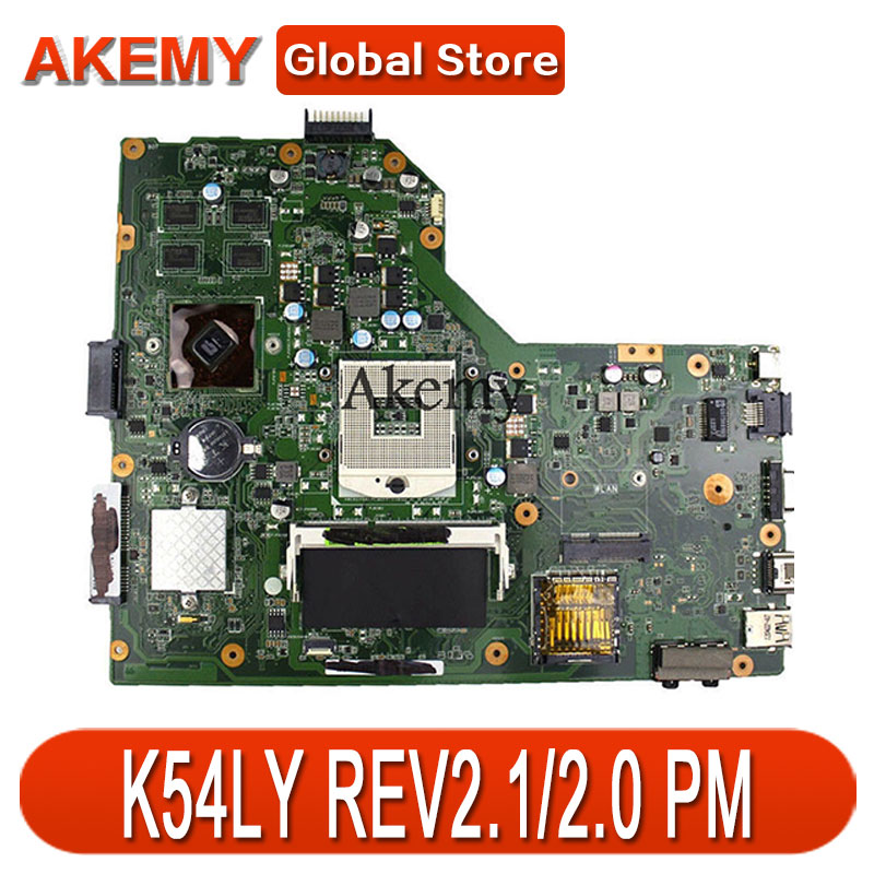 AK K54LY Laptop Motherboard For ASUS K54L K54LY X54H X54H K54HR X54HR Test Original Mai'nboard REV2.1/2.0 PM
