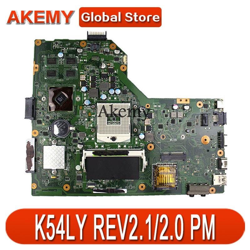 AK K54LY Laptop Motherboard For ASUS K54L K54LY X54H X54H K54HR X54HR Test Original Mai'nboard REV2.1/2.0 PM