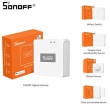 Sonoff ZigBee Gateway Bridge interruttore Wireless sensore di umidità della temperatura sensore di movimento sensore per porte e finestre Wireless Smart Home