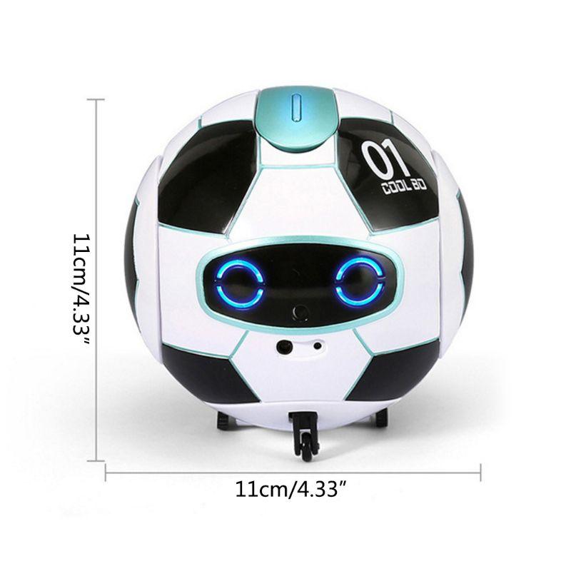 Intelligent Soccer Robot Talk Singing Dancing Repeat Touch Sensing Deformation 72XC