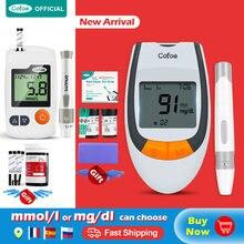 Cofoe 50/100 шт безопасная-точный измеритель уровня глюкозы в крови и Тесты полоски и Ланцеты сахарный диабет, глюкометр для измерения уровня глю...
