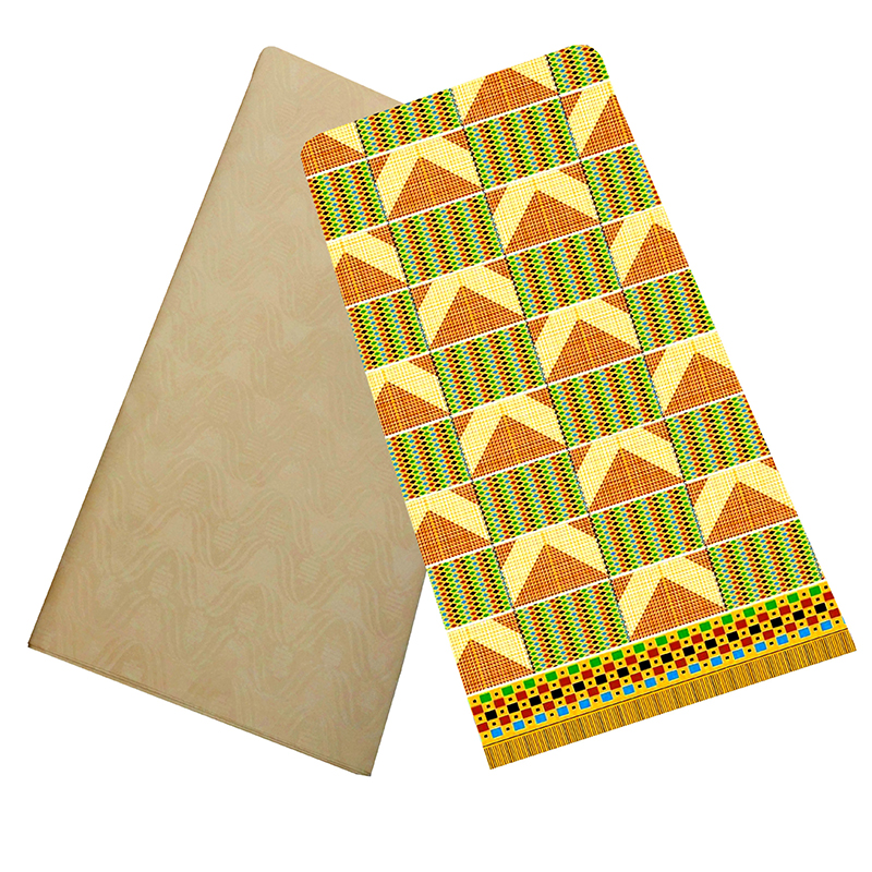 African Veritable Wax Tissu Africain Printed Polyester Fabric Tie-Dye Cloth DIY African Pagne Wax Ankara Fabric 2+2Yards