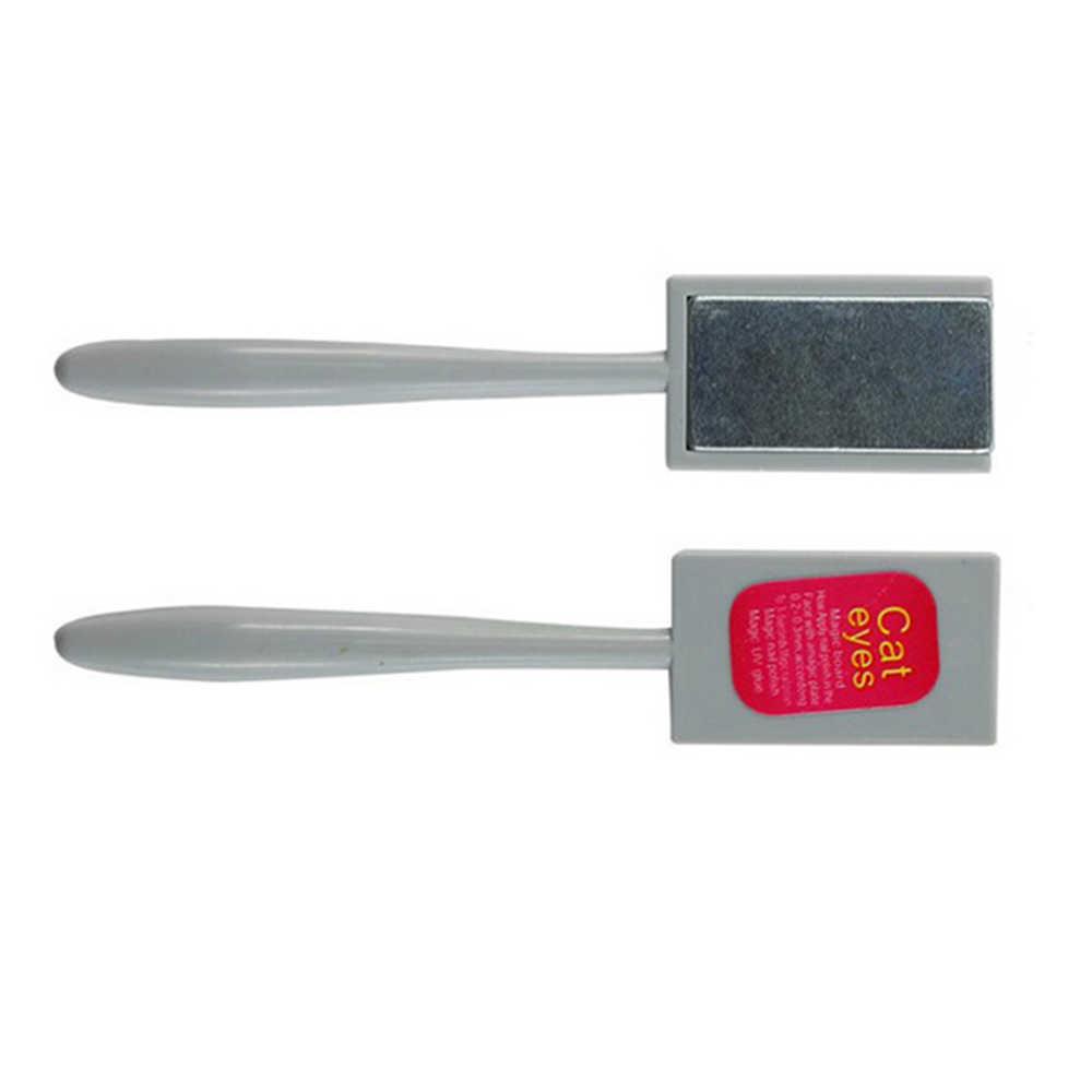 1 PC Cat Eye Uv Gel Nail Polish Magnet Logam Laser Nail Art Pernis 3D Plate Jade Efek Gel kuku Seni Manikur Alat