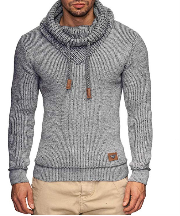 ZOGAA Sweater Men 2019 Brand Male Long Sleeve Solid Color Hooded Mens Fashion Casual Gray Black Slim Sweaters