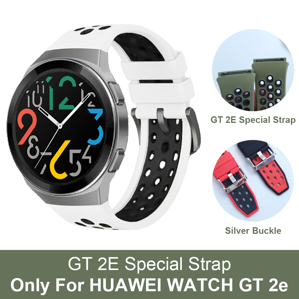 For HUAWEI WATCH GT 2e Special Strap Silicone Band for HUAWEI GT2E Smartwatch Watchband Bracelet Correa ремешок Official Style Smart Accessories    - AliExpress