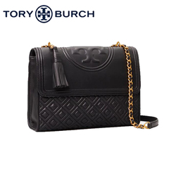 TORY BURCH Fleming Convertible Leather Shoulder Bag Embossed Adjustable Metal Chain Strap  Crossbody Bags For Women 43833