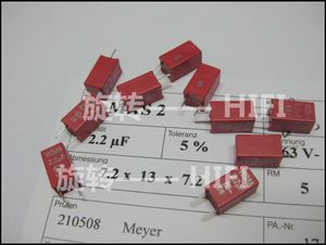 Image 2 - 10PCS ROT NEUE WIMA MKS2 63V 2,2 UF PCM5 2u2 2200nf 2.2U63V heißer verkauf 225/63V