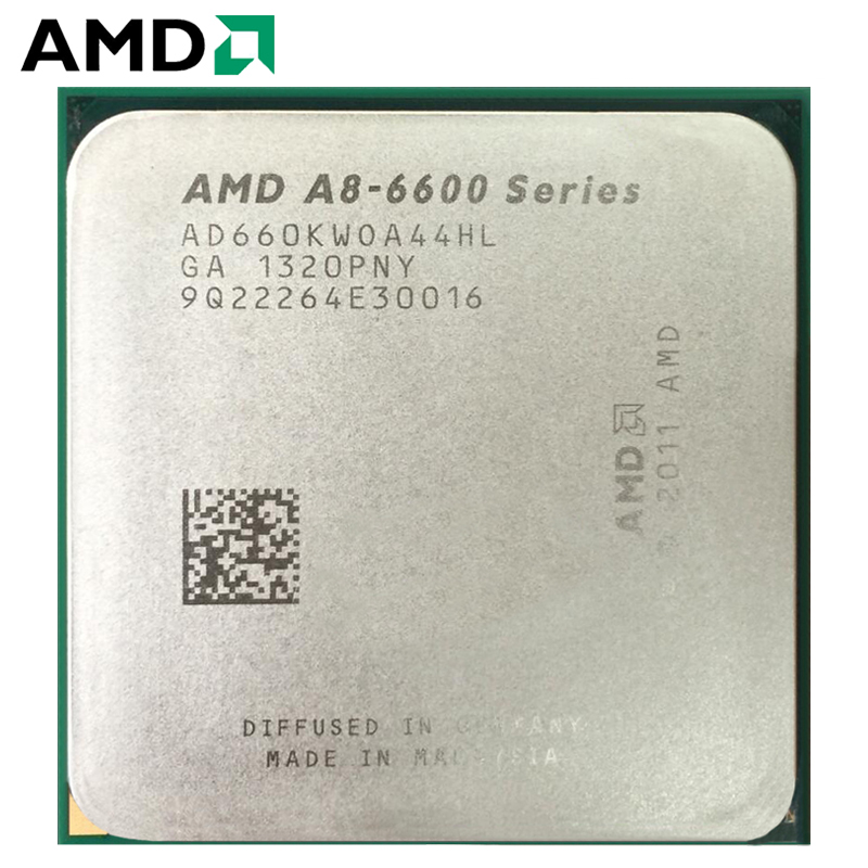 AMD A-Series APU X4 A8-6600K A8 6600K FM2 Quad-Core CPU 100% Working Properly Desktop Processor 3.9GHz 100W Socket FM2