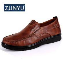 ZUNYU New Trademark Size 38-47 Upscale Men Casual Shoes Fashion Leather Shoes For Men Summer Men'S Flat Shoes Dropshipping