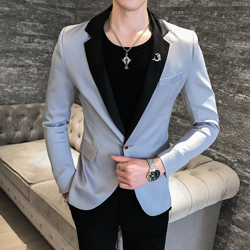 2020 Hot New Men's Fashion Suit Jacket 4 Colors Slim British Style Suit Jacket Men Jackets Terno Masculino Veste Costume Homme