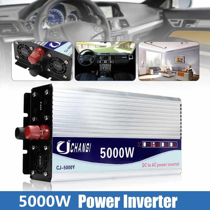 Invertör 12V/24V/48V 220V 5000W 10000W tepe-modifiye sinüs dalgası güç gerilim trafosu invertör dönüştürücü + 2 LCD ekran