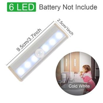 Motion Sensor Wireless LED Night Lights Bedroom Decor Light Detector Wall Decorative Lamp Staircase Closet Room Aisle Lighting 12