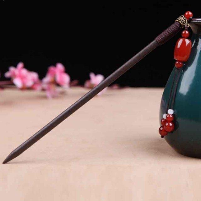 Kanzashi Hair Stick czerwony agat Tassel chiński styl japoński Kimono Yukata akcesoria spinka do włosów spinka do koka HS020