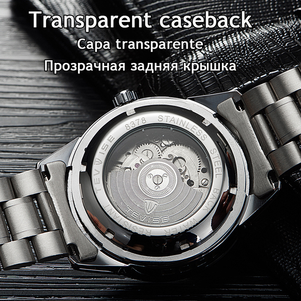 Image 5 - Tevise Mechanical Watches Fashion Luxury Mens Automatic Watch Clock Male Business Waterproof Wristwatch Relogio Masculino 2019Mechanical Watches   -