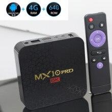 6 k caixa de tv mx10 pro android 9.0 allwinner h6 quad core 4 gb 32 gb 64 gb 2.4g wifi usb3.0 suporte 6 k * 4 k h.265 smart media player