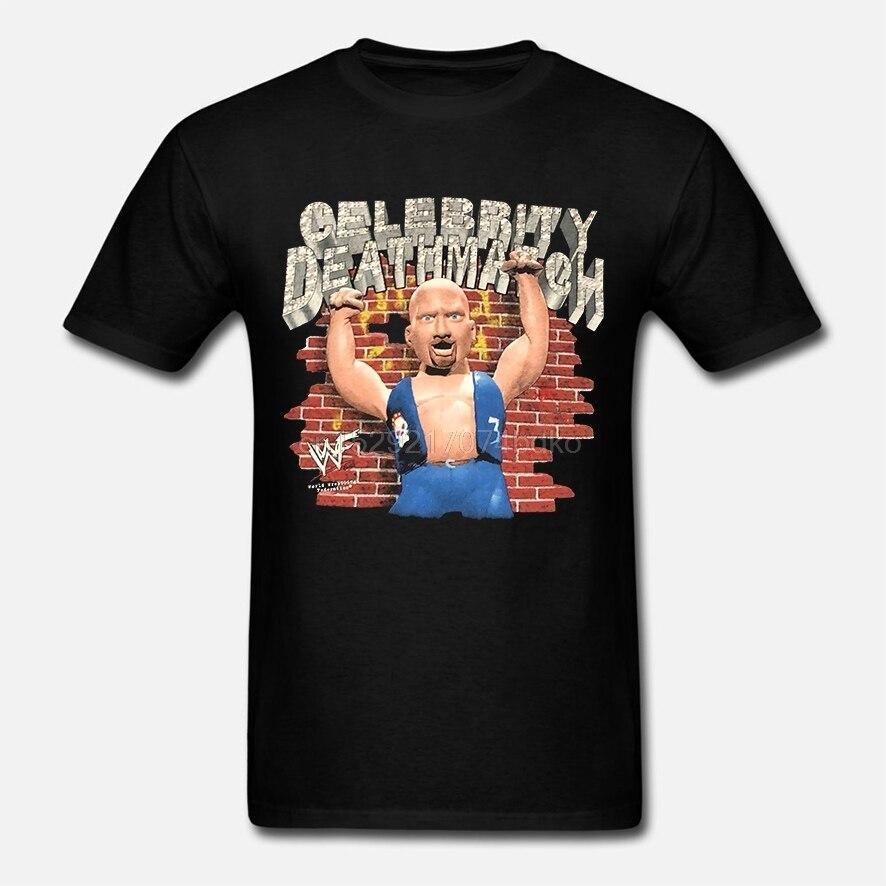 NEW!! CELEBRITY DEATH MATCH Vtg1998 T Shirt Stone Cold Steve Austin WWF REPRINT(2)(China)