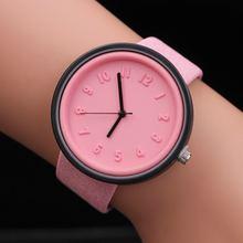 Простой номер часы кварц холст ремень наручные для Для женщин