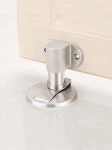 KAK Sticker Hardware Door-Holder Stainless-Steel Magnetic Furniture-Door Non-Punch Adjustable