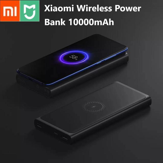 Xiaomi Wireless Power bank 10000mAh PLM11ZM USB Type C Mi Powerbank 10000 Qi Fast Wireless Charger Portable Charging Poverbank