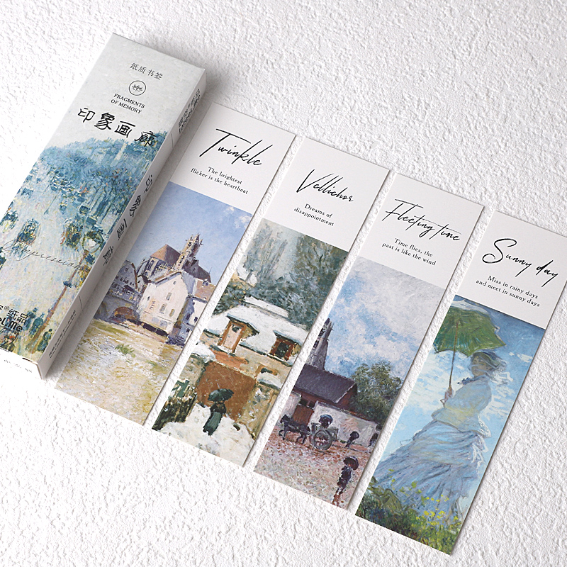 30 Pcs/Set  Flower Plant Art Paintings Paper Bookmark Book Holder Message Card Gift Stationery