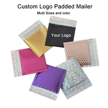50PCS Custom logo Foil Bubble mailer Packaging Padded Mailer Shpping Bags Postal Mailers Bubble Mailers with custom logo printed