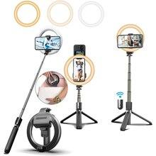 LEDリングライト自撮り棒,リングライト,三脚,YouTubeビデオ,TikTok,ライブブロードキャスト用