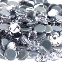 Iron-On-Stones Glass Fabric Crystal-Clear Flat-Back Hight-Quality Hot-Fix for Super-Bright