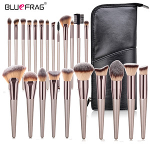 BLUEFRAG Pro 6-23pcs Makeup Brushes Set Powder Foundation Brush Eyeshadow Lip Make Up Brush With Portable PU Case Beauty Tools(China)