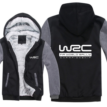 Winter World Rally Championship WRC Hoodies Men Fashion Coat Wool Liner Jacket Sweatshirt Thicken Warm Fleece cotton