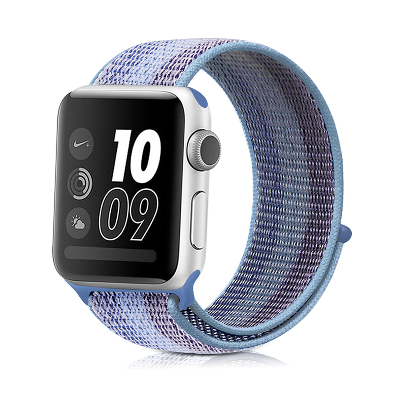 Для наручных часов Apple Watch, версии 3/2/1 38 мм 42 мм нейлон мягкий дышащий нейлон для наручных часов iWatch, сменный ремешок спортивный бесшовный series4/5 40 мм 44 мм - Цвет ремешка: stripe 8