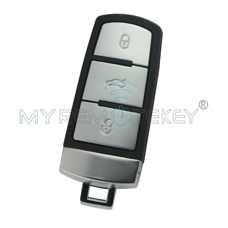 Kunci mobil pintar untuk VW Volkswagen Magotan Passat CC 2005 2006 2007 2008 2009 2010 433 MHz 3C0 959 752BA 3 tombol remtekey