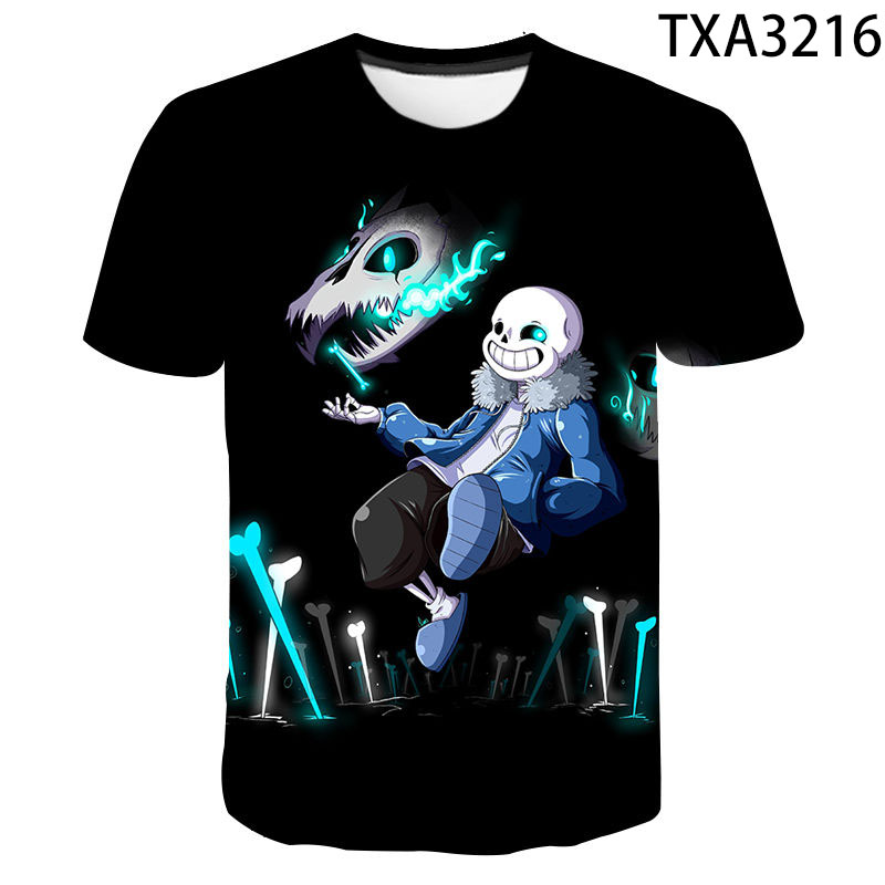 Summer Tops for Boys Youth T-Shirts Girly Skull Full Printed Short Sleeve Crew Neck Tees
