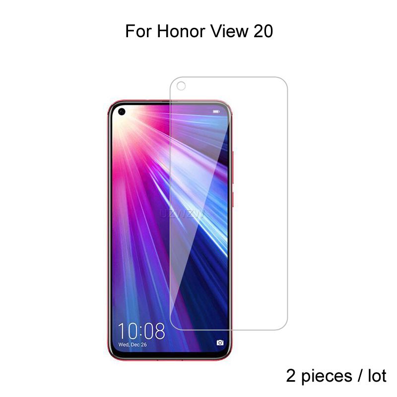 2pcs For Huawei Honor View 20 V20 Premium 2.5D 0.26mm Tempered Glass Screen Protector For Huawei Honor View 20 Protective Glass