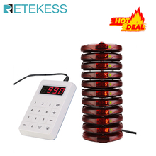 Retekess TD158 Restaurant Pager With 10 Coaster Pagers For Restaurant Clinic Coffee Shop Wireless Calling System Queue System