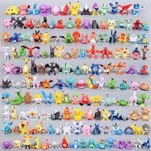 Симпатичные статуэтки Pokemon Figures Tomy 144 различные куколки 24 ⑤ пакет ПВХ Фигурки игрушки для Carta Мальчик Дети подарки на день рождения