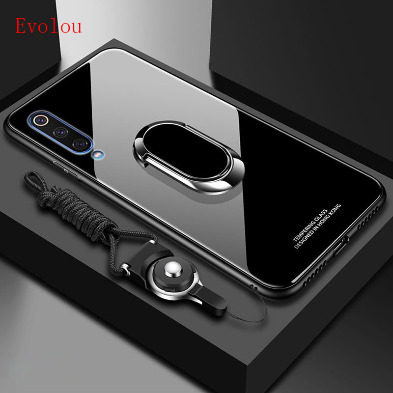 Stand Ring Magnet Cover For <font><b>Samsung</b></font> Galaxy A10 A20 A30 <font><b>A40</b></font> A50 A60 A70 A10E <font><b>Case</b></font> Hard Tempered <font><b>Glass</b></font> Protective Back <font><b>Case</b></font> Cover image