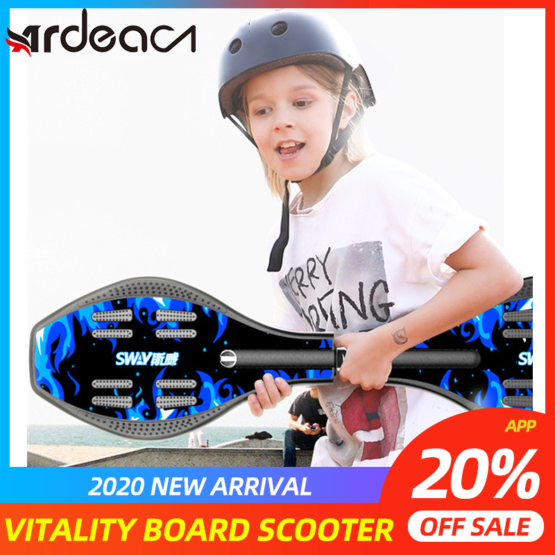 ARDEA 88cm vitality board children's two-wheeled skateboard beginners adult flash youth swing two-wheeled scooter