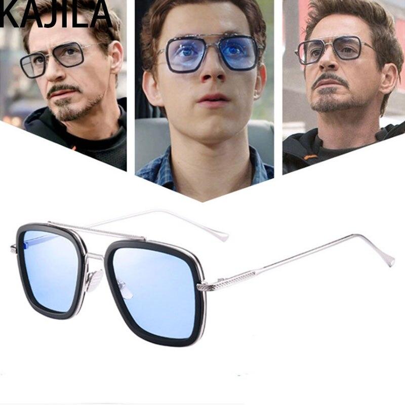 Lentes Tony stark Sonnenbrille Männer Marke Designer Retro Platz Steampunk Eisen Mann Sonnenbrille Für Frauen UV400 очки тони старк