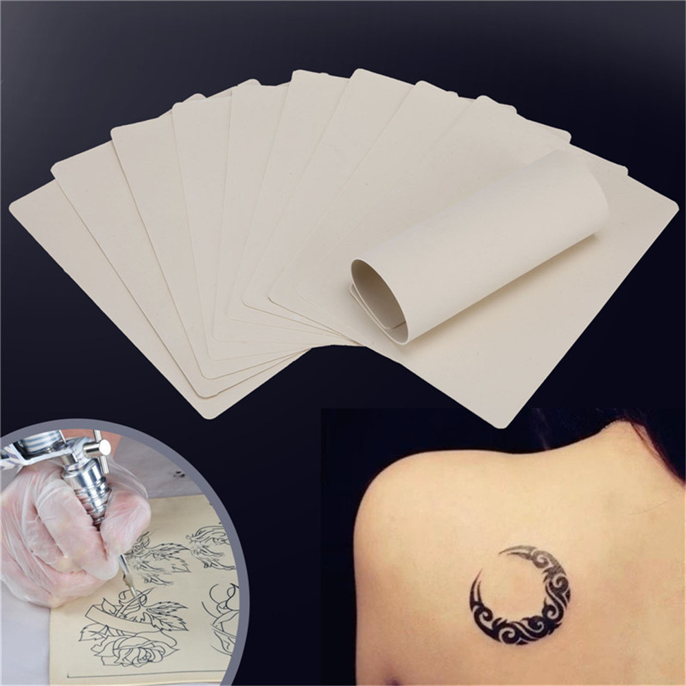 1PCS Tattoo Practice Skin Sheet Blank Plain For Tattoo Needle Machine Supply Kit 20 X 15cm Skin Training Skin Set