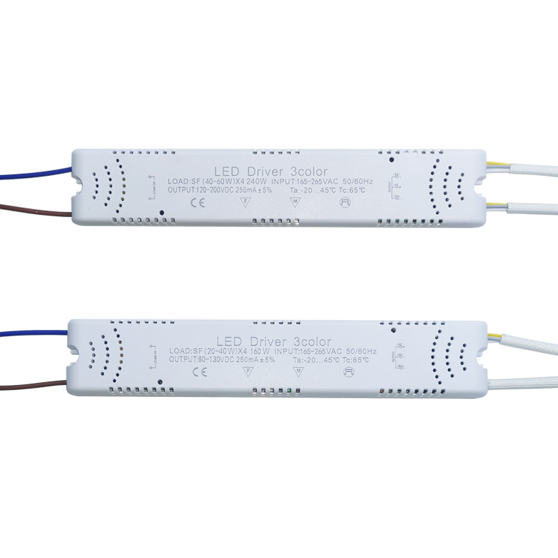 8-240W LED Driver Adapter For LED Double Color Lighting AC220V Non-Isolating Transformer For LED Ceiling Light Replacement