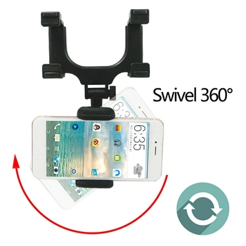 Car Rearview Mirror Mount Holder Stand Cradle For Cell Phone GPS Universal 360 Degree Camera DVR Recorder Sunvisor image