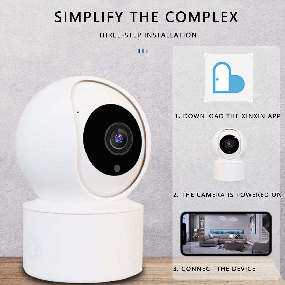 1080P IP Camera Security Camera WiFi Wireless CCTV Camera Surveillance IR Night Vision 360 Angle Video IP Cam