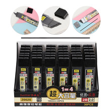 Recharge de crayon mécanique en plastique, plastique, plomb de Graphite, 2.0mm d'épaisseur, 20 pièces/1 boîte