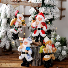 Santa Doll Toy Christmas Decorations Colorful Claus doll carrying Gift for New Year Tree