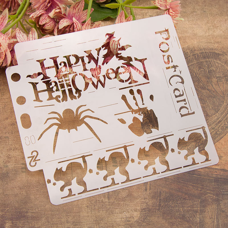 Halloween  Pvc Layering Stencils For Diy Scrapbook Coloring,painting Stencil,home Decor Diy Etc. Product Image