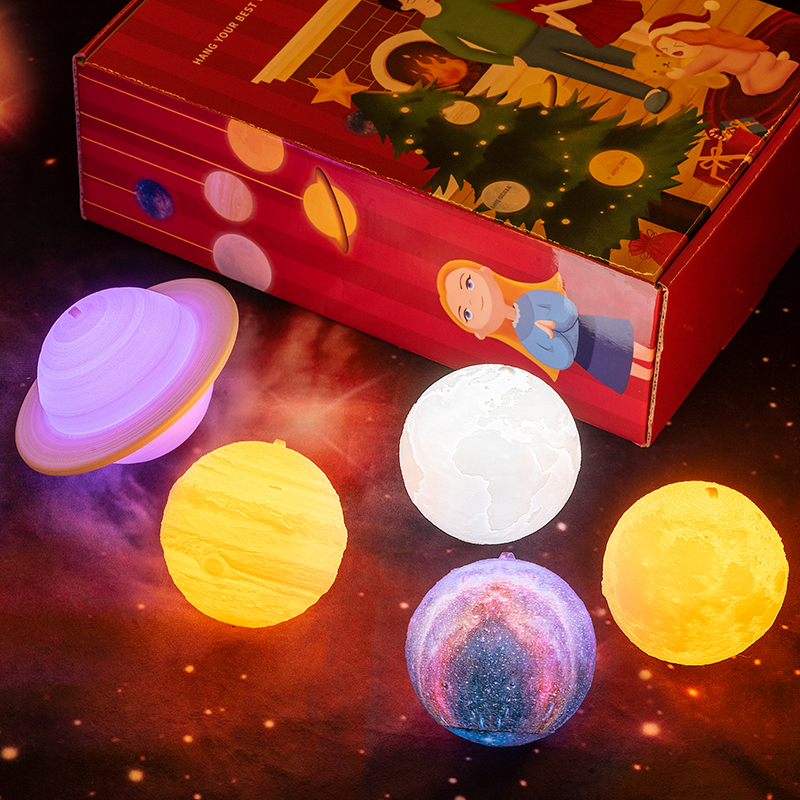 2019 neue Dropship Weihnachten Lichter Mond Lampe Kinder Nacht licht Weihnachten Dekorationen für Haus