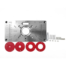 Wood Router Machine-Plate Trimmer Carpinte-Tool Milling Aluminium with 4-Rings
