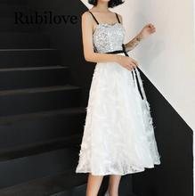 Rubilove Dress skirt female 2019 new summer banquet noble elegant strap temperament ladies long section slim dress