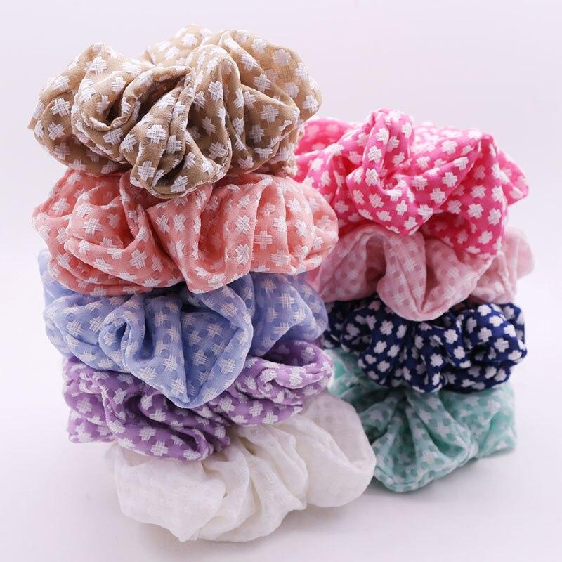 Big Size Flower Hair Scrunchies Headband Hair Holder Holiday Hair Accessories