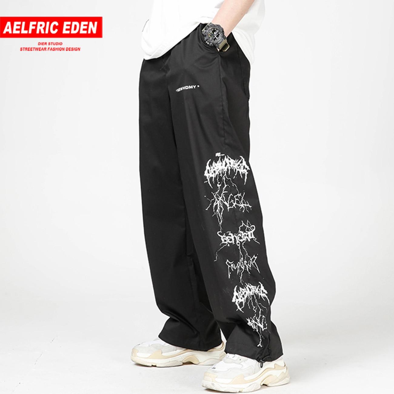 Aelfric Eden Hip Hop Lightning Streetwear Cargo Pants 2020 Summer Fashion Streetwear Harajuku Baggy Pants Joggers Men Trousers